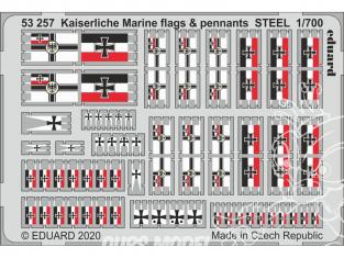 Eduard photodecoupe bateau 53257 Drapeaux et Fanions Kaiserlische Marine métal 1/700