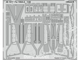 EDUARD photodecoupe avion 481017 Amélioration Focke Wulf Fw 190A-6 Eduard 1/48