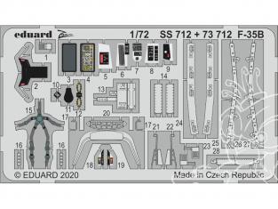 Eduard photodecoupe avion 73712 Amélioration F-35B Academy 1/72