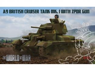 IBG maquette militaire w-011 A9 British Cruiser tank MK.I avec canon ZPDR 1/72