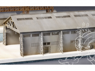 Aoshima maquette accessoires bateau 31542 Papercraft Structure (Grande Usine) 1/700