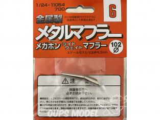 fujimi kit d'amélioration 11054 Silencieux échappement en métal 1/24