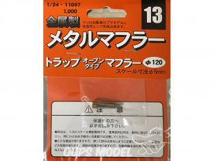 fujimi kit d'amélioration 11097 Silencieux échappement en métal 1/24
