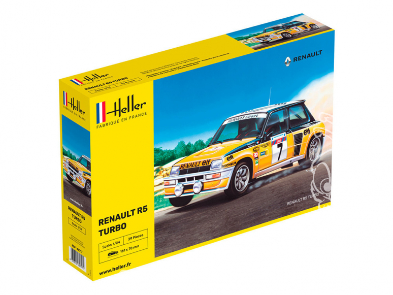 heller maquette voiture 80717 Renault 5 turbo 1/24