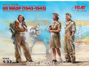 Icm maquette avion 32108 US WASP 1943-1945 WWII 3 personnages 100% nouveaux moules 1/32