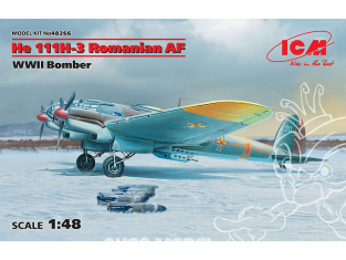 Icm maquette avion 48266 HE 111H-3 AF roumain bombardier WWII 1/48
