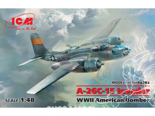 Icm maquette avion 48283 A-26C-15 Invader Bombardier américain WWII 1/48