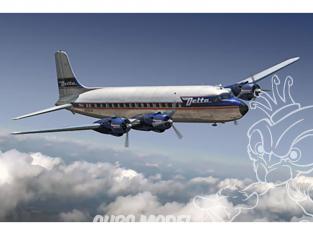 Roden maquette avion 304 DC-6 Delta Airlines 1/144