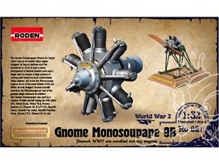 roden maquette avion 621 Gnome Monosoupape 9B 1/32