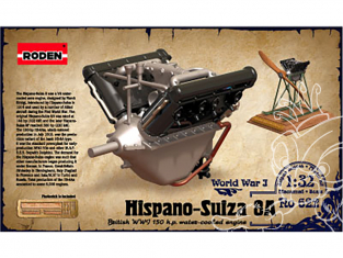 roden maquette avion 622 Hispano Suiza V8A 1/32