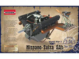 roden maquette avion 625 Hispano-Suiza 8Ab 1/32