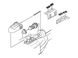 CMK kit amélioration 6004 SET MOTEUR POUR UH-1D dragon 1/35