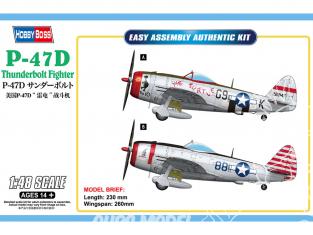 Hobby Boss maquette avion 85811 P-47D Thunderbolt Fighter 1/48