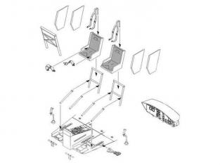 CMK kit amélioration 6005 SET INTERIEUR POUR HELICOPTERE UH-1D dragon 1/35