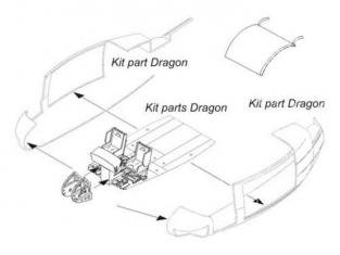 CMK kit amélioration 6007 SET COMPARTIMENT DE NEZ POUR HELICOPTERE UH-1D 1/35