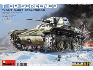 Mini Art maquette militaire 35237 T-60 MASQUE (USINE N ° 264 STALINGRAD) avec interieur détaillé 1/35