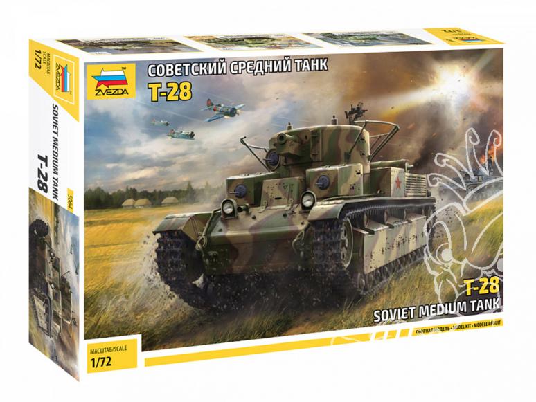 Zvezda maquette militaire 5064 Char moyen soviétique T-28 1/72
