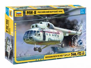 Zvezda maquette helico 7254 Mil Mi-8 Hélicoptère de recherche et de sauvetage sovietique 1/72