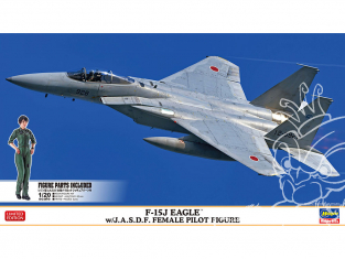 HASEGAWA maquette avion 02325 F-15J Eagle avec figurine pilote féminine J.A.S.D.F 1/72