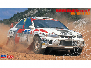 Hasegawa maquette voiture 20435 Mitsubishi Lancer Evolution IV «Rallye Acropole 1997» 1/24