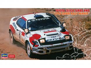"Hasegawa maquette voiture 20434 Toyota Celica Turbo 4WD ""vainqueur du rallye Safari 1992"" 1/24"