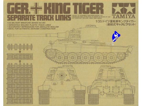 tamiya maquette militaire 35165 jeu de chenilles king tiger 1/35