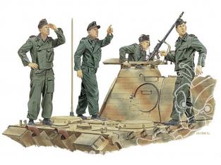 "dragon maquette militaire 6191 ""Achtung-Jabo!"" Equipage de Panzer France 1944 1/35"