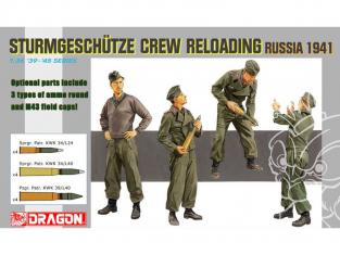 dragon maquette militaire 6192 Equipage de Sturmgeschutze rechargeant obus Russie 1941 1/35