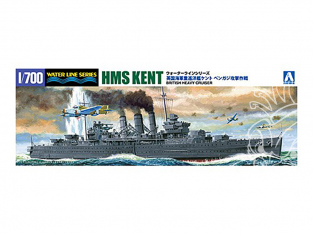Aoshima maquette bateau 56714 HMS Kent Water Line Series Limited Edition 1/700