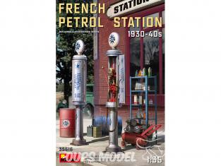 Mini Art maquette militaire 35616 STATION ESSENCE FRANÇAISE 1930-40S 1/35