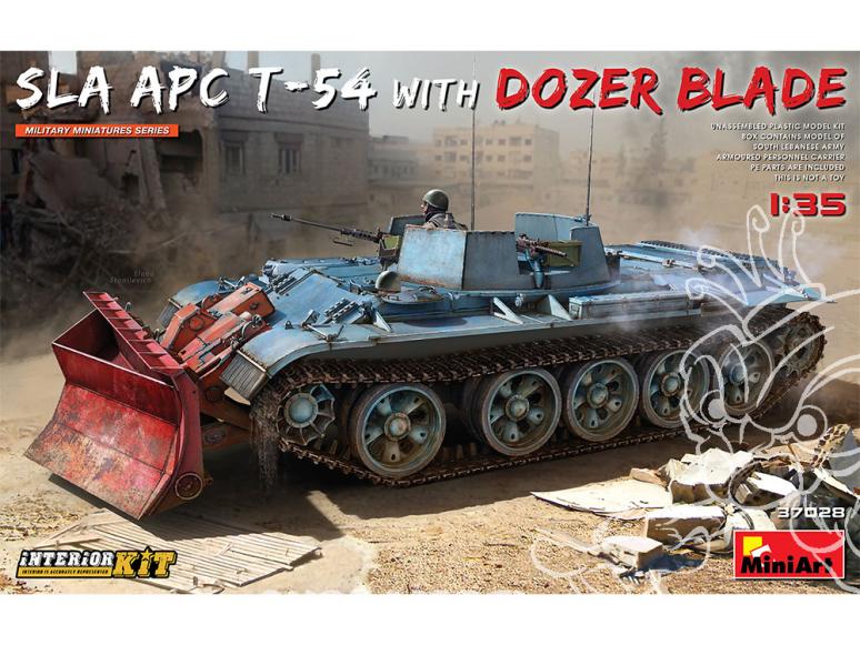 Mini Art maquette militaire 37028 SLA APC T-54 avec lame de bouteur. KIT INTÉRIEUR 1/35