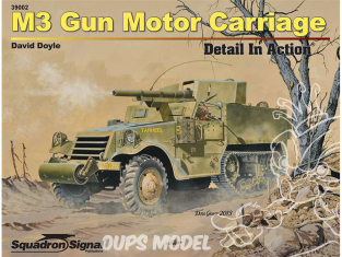Librairie Squadron 39002 M3 Gun Motor Carriage Detail in Action