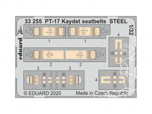 Eduard photodécoupe avion 33255 Harnais métal PT-17 Kaydet Roden 1/32