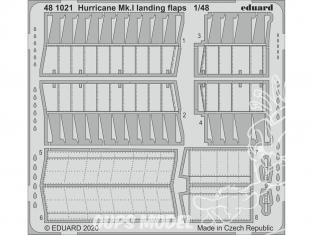 EDUARD photodecoupe avion 481021 Volets d'atterrissage Hurricane Mk.I Airfix 1/48