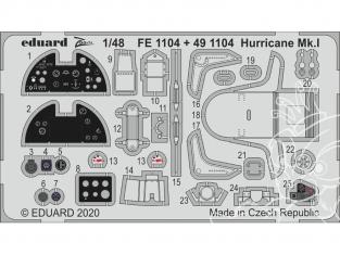 EDUARD photodecoupe avion FE1104 Zoom amélioration Hurricane Mk.I Airfix 1/48