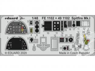EDUARD photodecoupe avion FE1102 Zoom amélioration Spitfire Mk.I Airfix 1/48