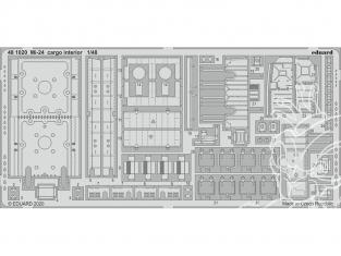 EDUARD photodecoupe hélicoptère 481020 Intérieur cargo Mi-24 Zvezda 1/48