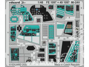 EDUARD photodecoupe hélicoptère FE1097 Zoom intérieur Mi-24 Zvezda 1/48