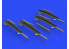 Eduard kit d'amelioration brassin 672240 Missiles R-3R w/ pylons pour MiG-21 Eduard 1/72