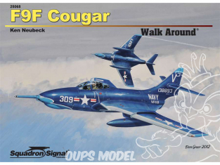 Librairie Squadron 25068 F9F Cougar Walk Around