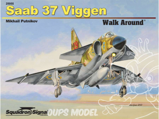 Librairie Squadron 25055 Saab 37 Viggen Walk Around