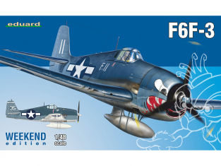EDUARD maquette avion 84160 F6F-3 Hellcat WeekEnd Edition 1/48