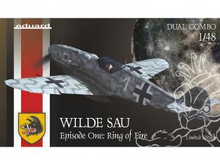 EDUARD maquette avion 11140 Wilde Sau : Episode one Ring of fire - Messerschmitt Bf 109G-5/6 Edition Limitee 1/48