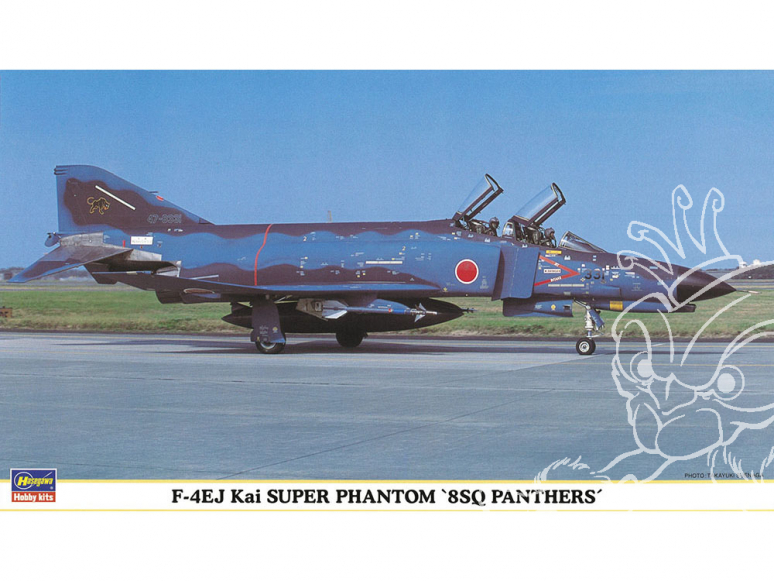 Hasegawa maquette avion 00637 F-4EJ Kai Super Phantom «8SQ Panthers» 1/72