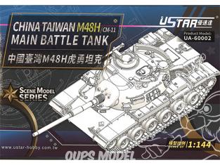 U-Star maquette militaire 60002 China Taiwan M48H/CM-11 Char de combat principal 1/144