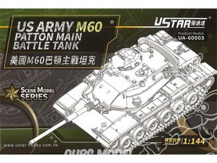 U-Star maquette militaire 60003 Us Army M60 Patton Char de combat principal 1/144