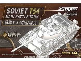 U-Star maquette militaire 60004 Soviet T54 Char de combat principal 1/144