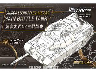 U-Star maquette militaire 60005 Canada Leopard C2 Mexas Char de combat principal 1/144