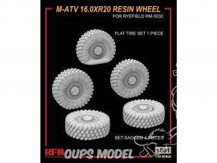 Rye Field Model maquette militaire 1001 Roues résine M-ATV 16.0XR20 1/35