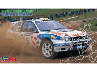 Hasegawa maquette voiture 20438 Toyota Corolla WRC «Rallye de Grande-Bretagne 1998» 1/24